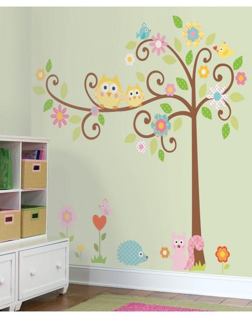 Naklejki - Kwitnące drzewo