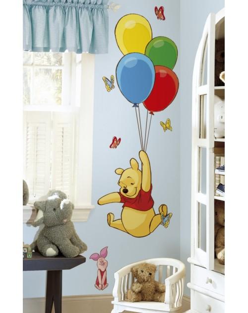 Naklejki - Kubuś z balonami
