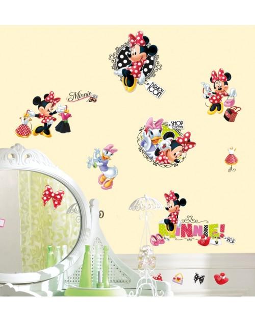 Naklejki - Minnie na zakupach