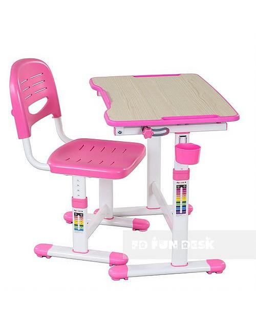 Piccolino II Pink - Biurko dziecięce + Krzeselo
