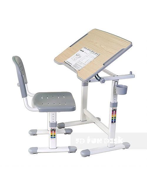 Piccolino II Grey - Biurko dziecięce + Krzeselo