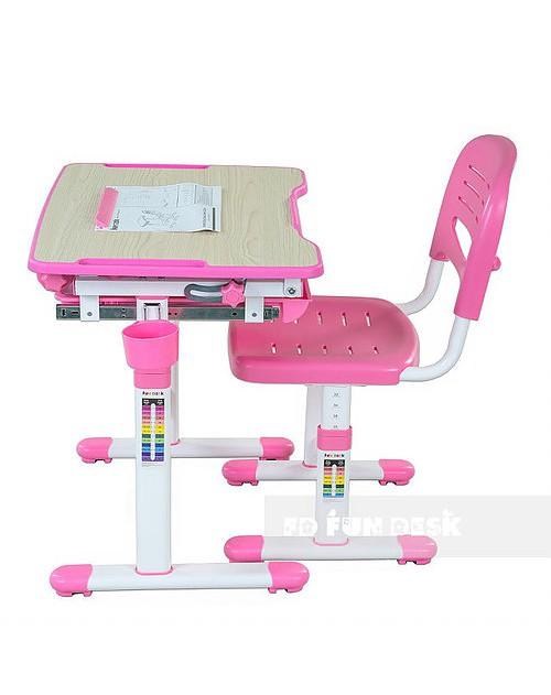 Bambino Pink - Biurko dziecięce + Krzeselo