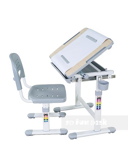 Bambino Grey - Biurko dziecięce + Krzeselo