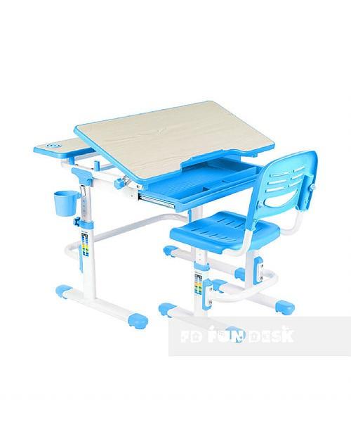 Lavoro Blue - Regulowane biurko z krzesełkiem