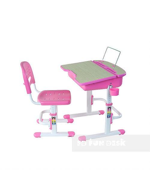 Capri Pink - Regulowane biurko z krzesełkiem
