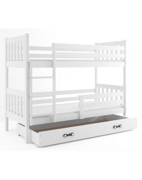 Łóżko piętrowe CARINO – BIAŁY
