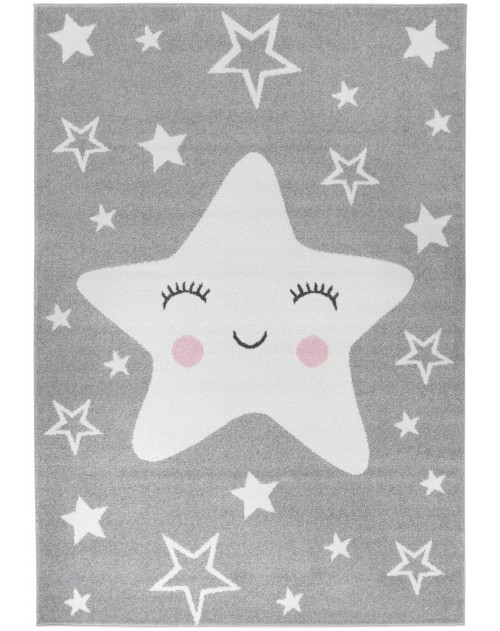 Dywan Carpetforyou Happy Star Grey
