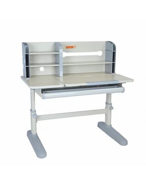 Amico Grey - regulowane biurko z nadstawką