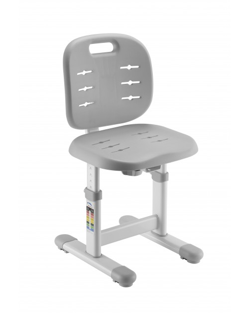 SST2 Grey - Regulowane krzesełko dziecięce FunDesk