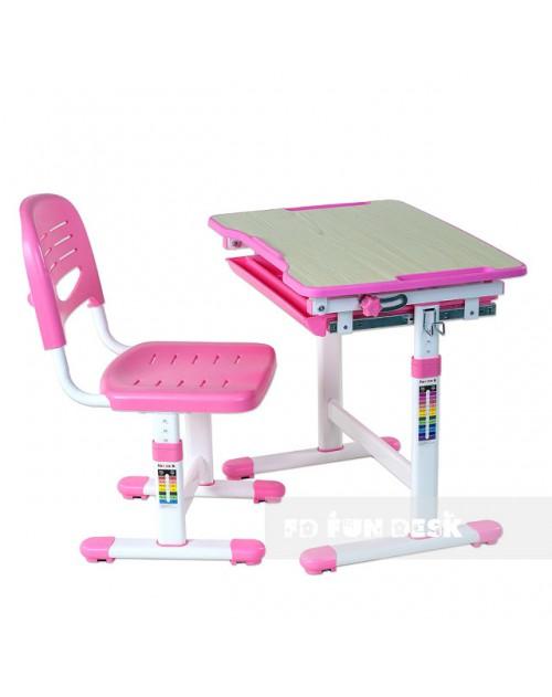 Piccolino Pink - Biurko dziecięce + Krzeselo
