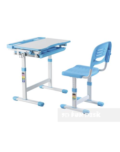 CANTARE BLUE - REGULOWANE BIURKO DZIECIĘCE z krzesłem
