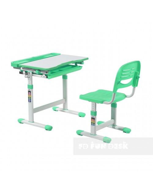 CANTARE GREEN - REGULOWANE BIURKO DZIECIĘCE z krzesłem