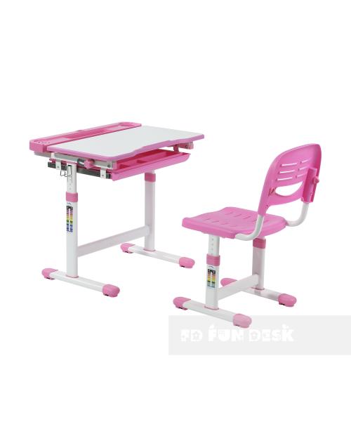 CANTARE PINK - REGULOWANE BIURKO DZIECIĘCE z krzesłem