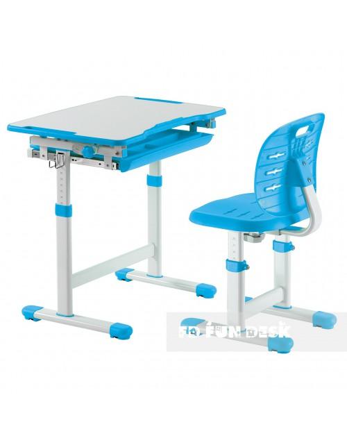 Piccolino III Blue - zestaw biurko z krzesełkiem dla dzieci
