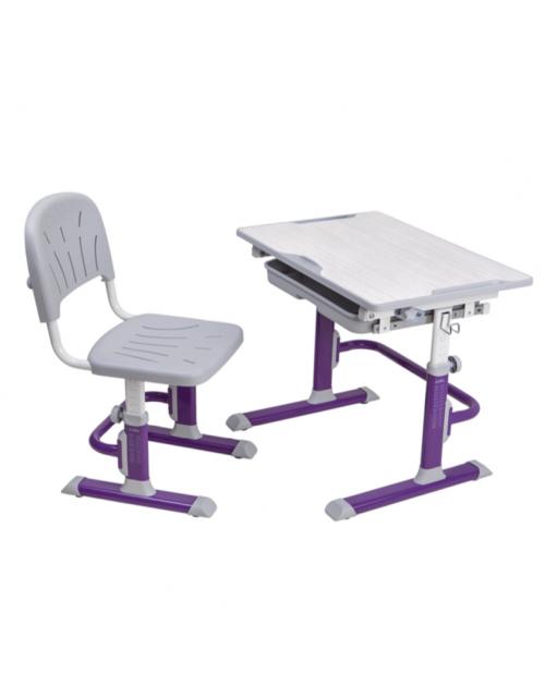 Cubby Lupin Purple - Regulowane biurko z krzesełkiem