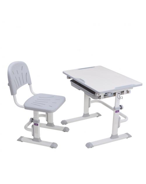 Cubby Lupin Grey - Regulowane biurko z krzesełkiem