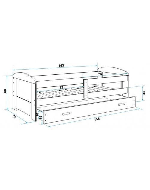 Łóżko 2-poziomowe FILIP