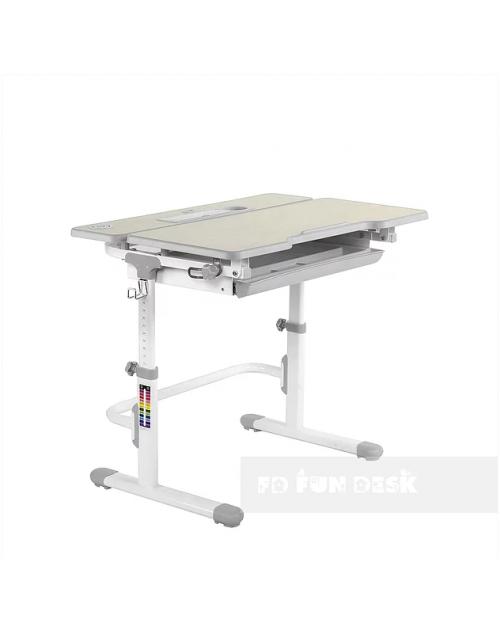 Lavoro L Grey - Regulowane biurko
