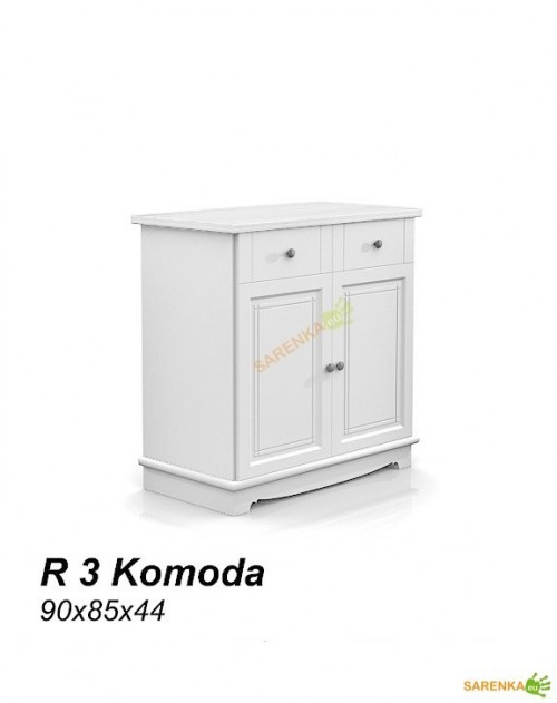Komoda 2D Rose Pure White