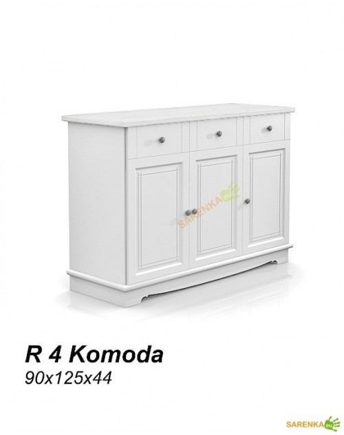 Komoda 3D Rose Pure White