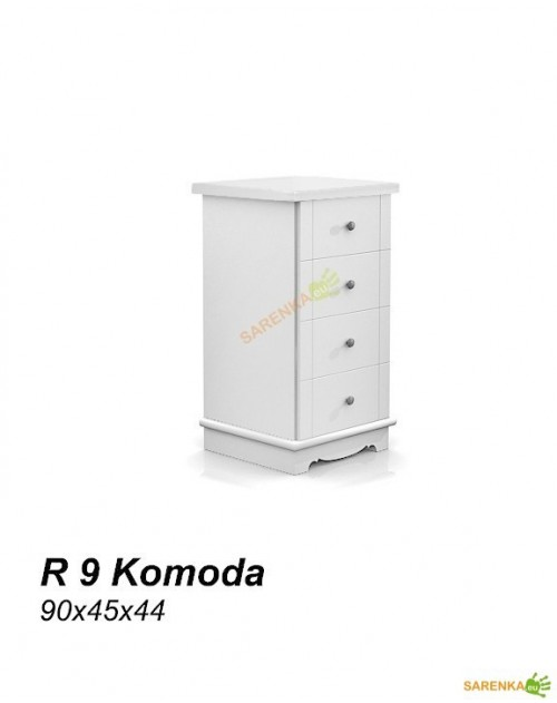 Komoda Wąska Rose Pure White