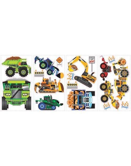 Naklejki - Maszyny budowlane