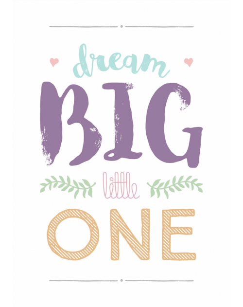 PLAKAT DREAM BIG GIRL